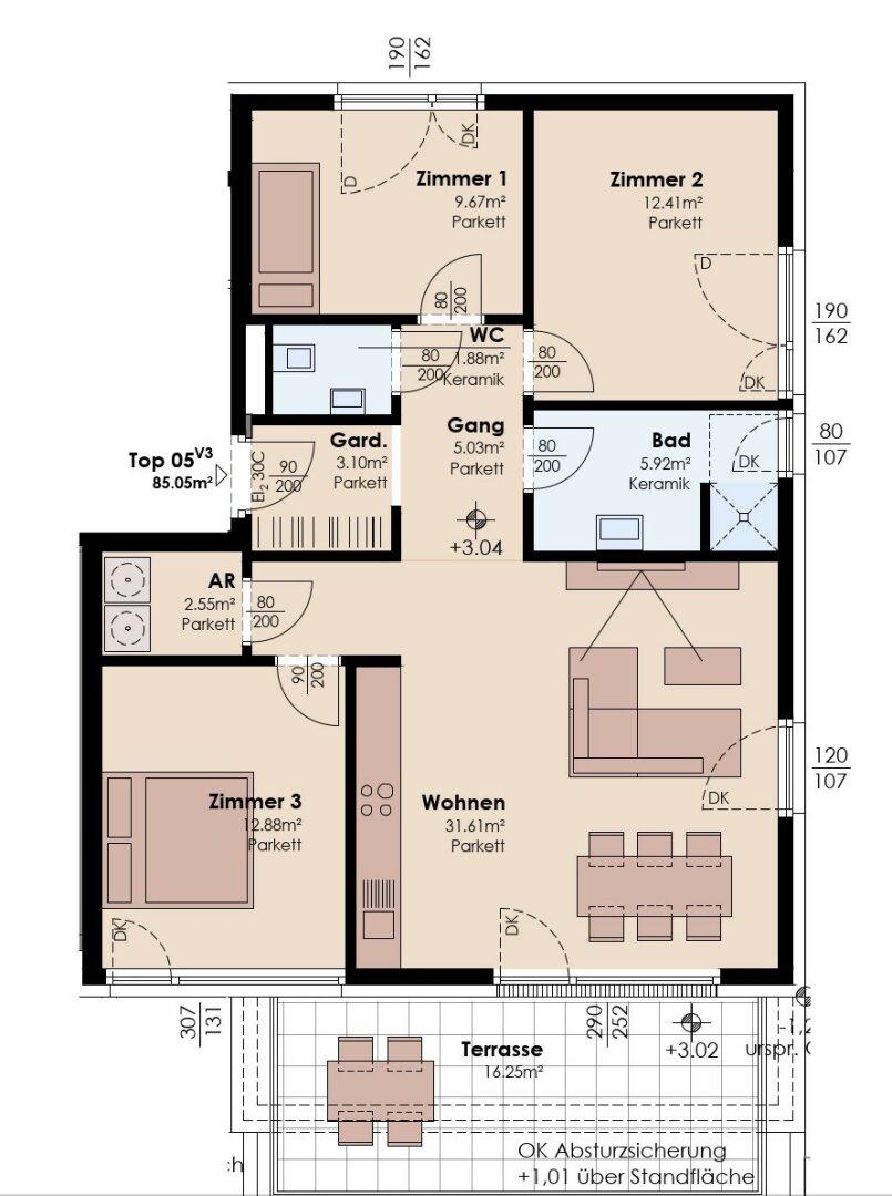 4-Zimmer-Variante 3
