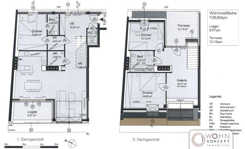 Exklusive 140m² DG-Maisonette mit Terrasse und Einbauküche - 1020 Wien /  / 1020Wien / Bild 11