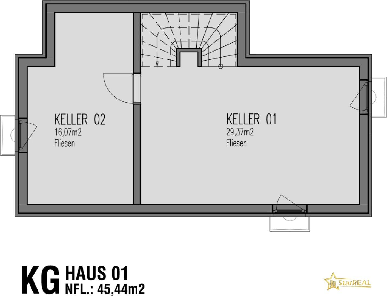 HAUS 1 GRUNDRISS KELLERGESCHOSS