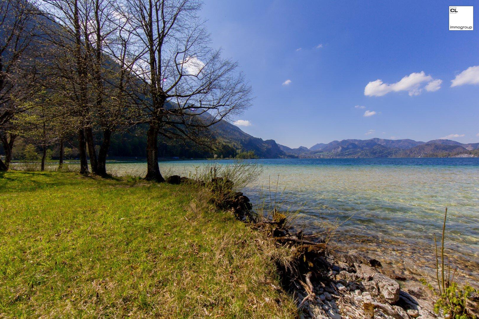 !!!Seltene Gelegenheit!!! - Sonniges Seegrundstück direkt am Wolfgangsee zu Verkaufen!