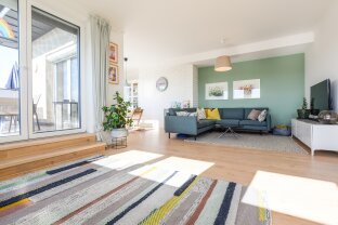 Traumhafte 4-Zimmer-Dachgeschoßwohnung mit zwei Terrassen und Blick auf den Anninger