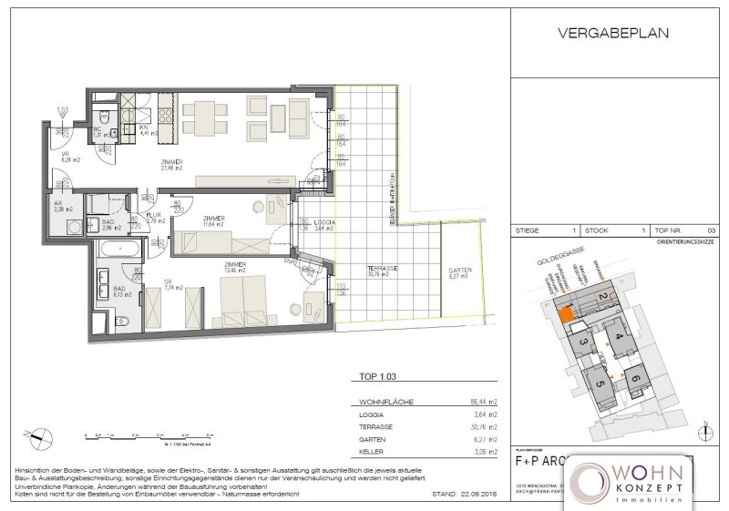Goldegg Gardens: 90m² Erstbezug + 31m² Terrasse - 1040 Wien /  / 1040Wien / Bild 10