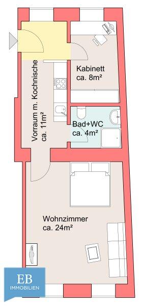 Traumhaftes Altbaufeeling - mit der U1 in 7 min. zum Stephansplatz /  / 1220Wien / Bild 3