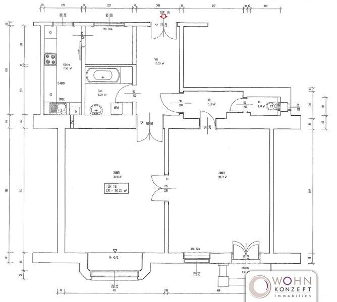 Wunderschöner 90m² Stilaltbau mit Einbauküche und Lift - 1070 Wien /  / 1070Wien / Bild 9
