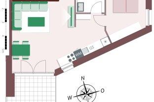 8005 – Toll geschnittene 2-Zimmer-Maisonette mit großem Wohnzimmer