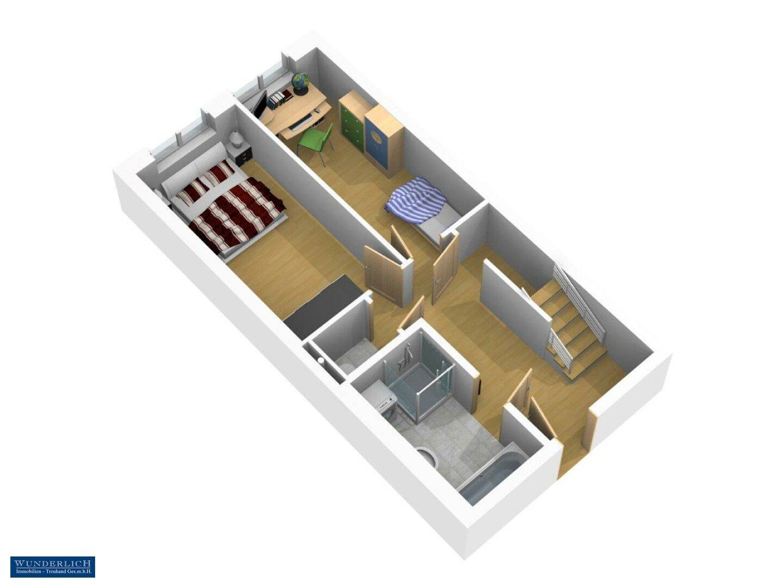 3D-Ansicht 1 Eingangsebene