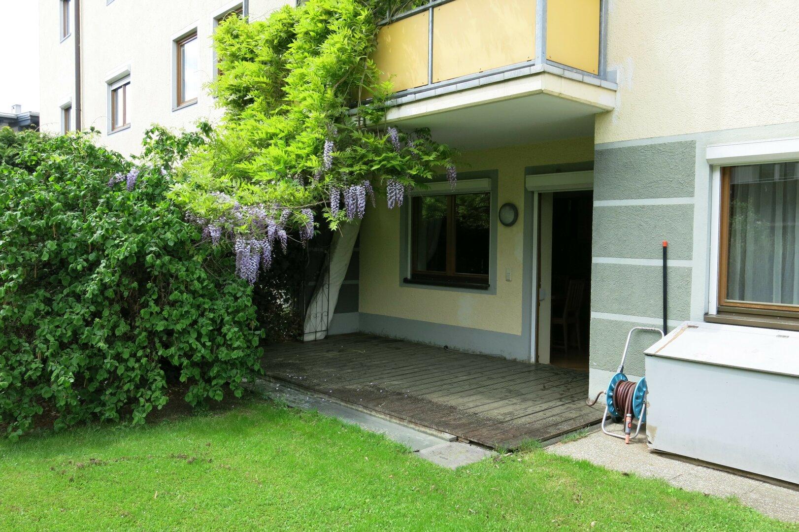Terrasse und Garten, 3-Zimmer Mietwohnung Kufstein