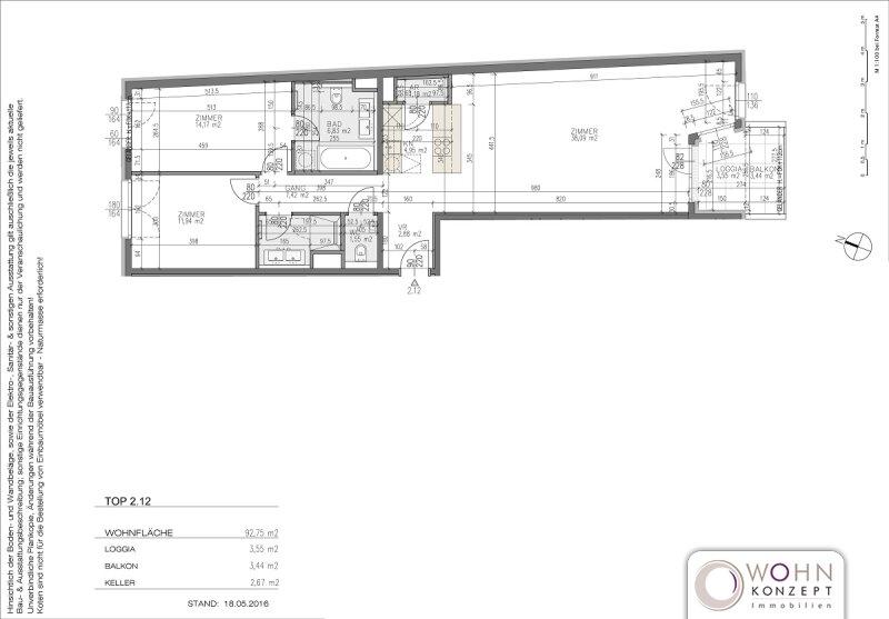 Goldegg Gardens: 96m² Erstbezug + 7m² Balkon - 1040 Wien /  / 1040Wien / Bild 9