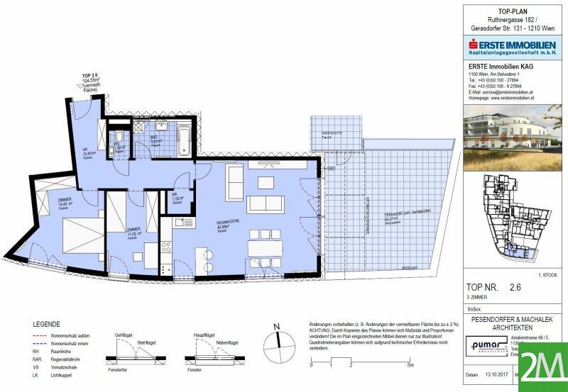 Provisionsfrei für den Mieter und Erstbezug! 3-Zimmer-Neubauwohnung mit großer Terrasse /  / 1210Wien / Bild 7