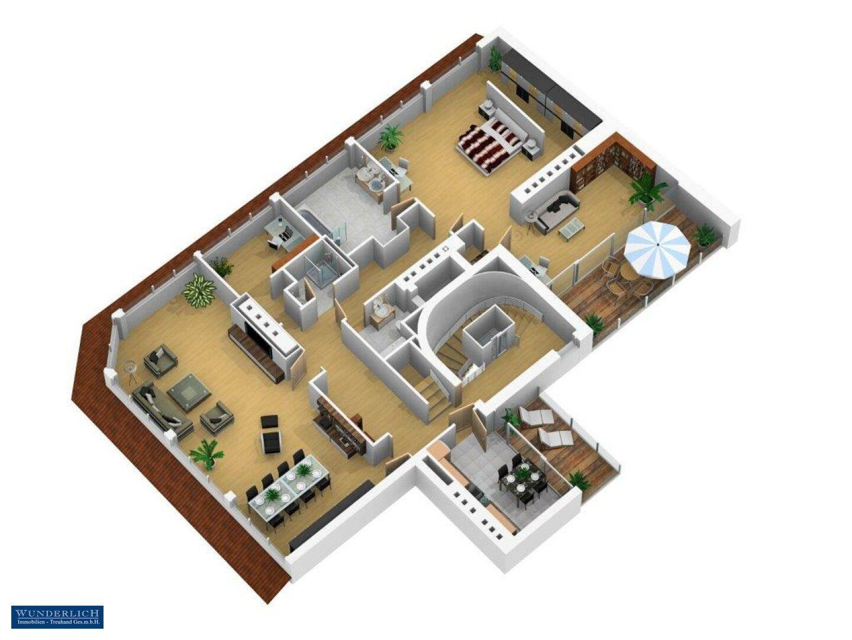 3D-Visualisierung Eingangsebene
