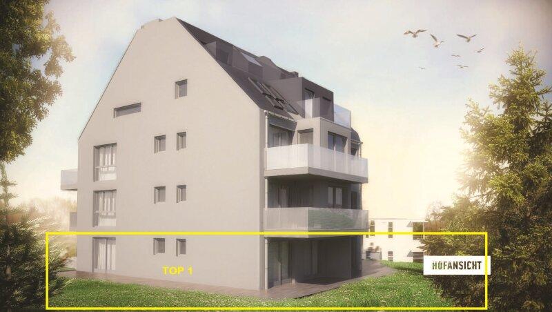 Provisionsfrei! Erstbezug in Grünruhelage, 3 Zimmer Wohnung mit rundum Grünblick und 187 m² Eigengarten, Südterrasse