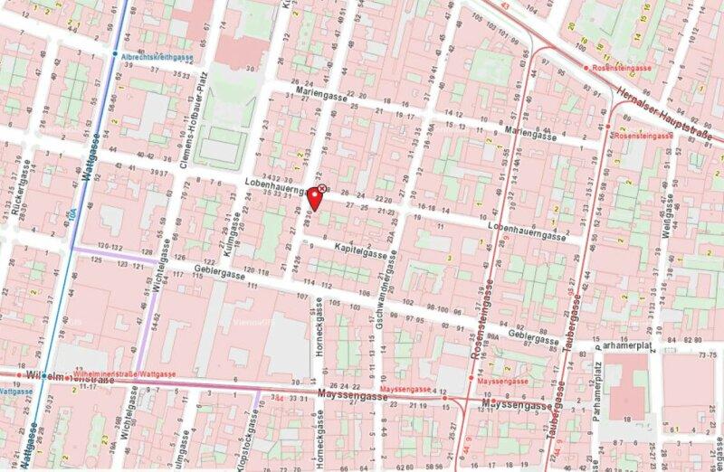 Klopstockgasse! BARRIEREFREI, HELL, RUHIG, SANIERT, Wohnzimmer mit 4 Fenstern, 2 Zimmer-Wohnung /  / 1170Wien / Bild 1