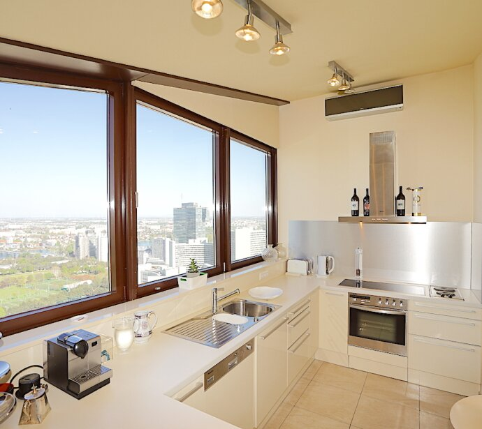 |3D-Tour| Im Himmel ist noch Platz - Atemberaubendes Penthouse bei UNO CITY U1