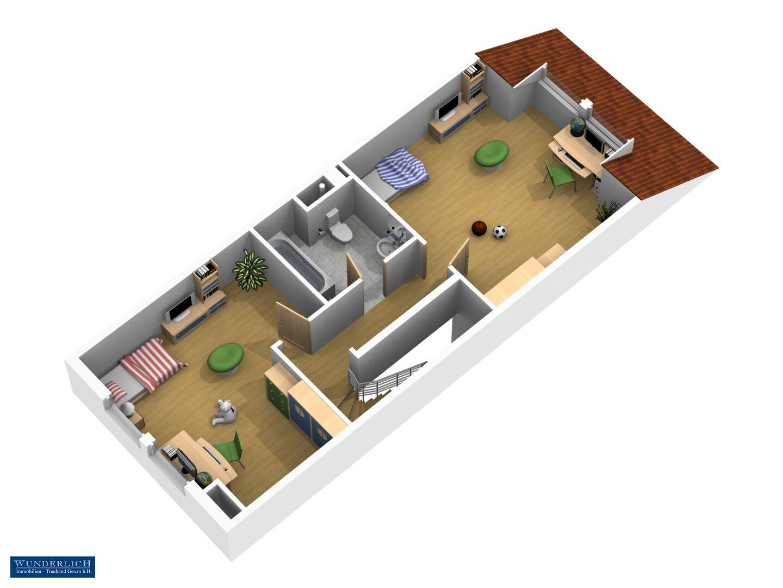 3D-Ansicht Dachgeschoss