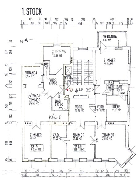 Entzückende, ruhige und freundliche 3 Zimmer Altbauwohnung in Grünlage /  / 1140Wien / Bild 8