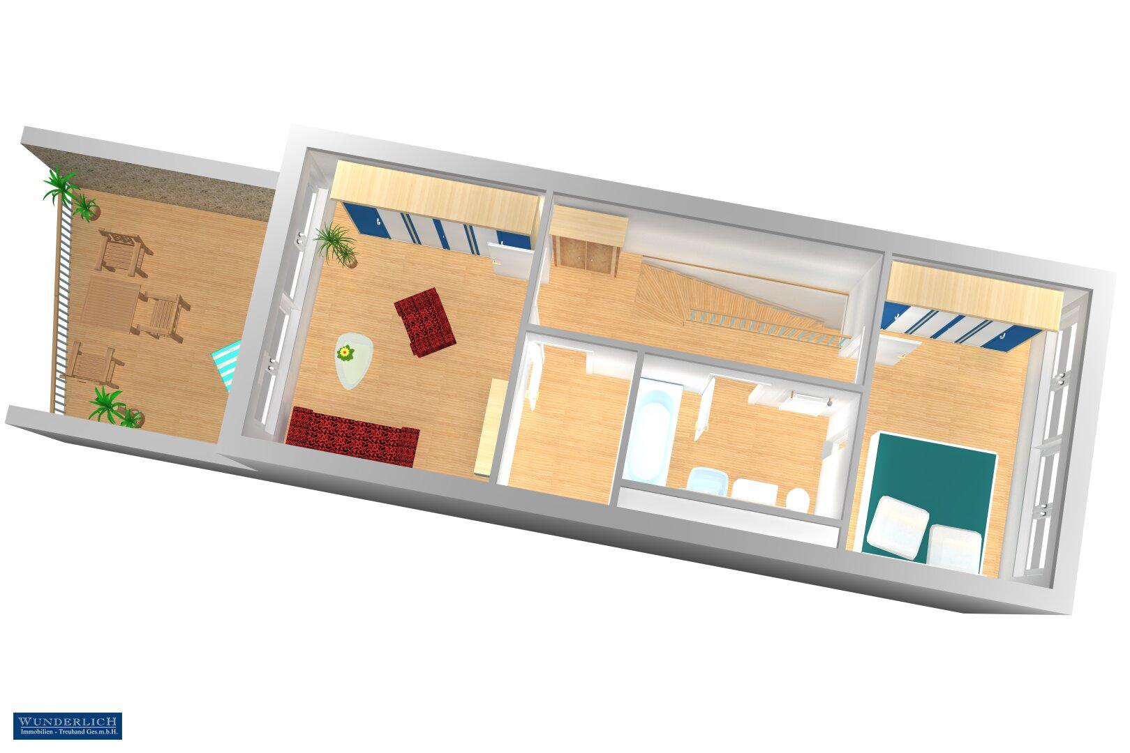 Schlafebene 3D-Visualisierung 2