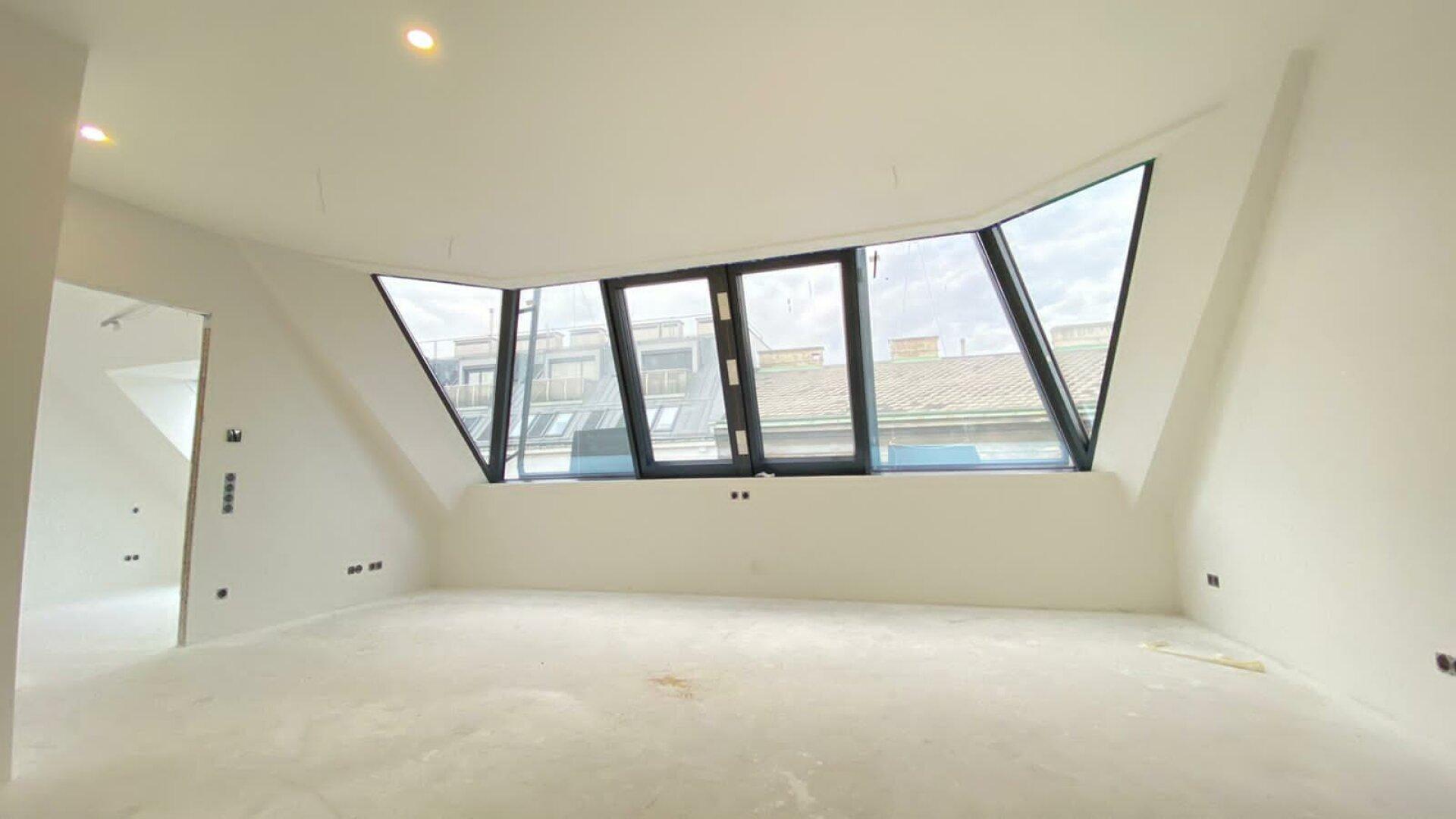 Wohnküche mit Gaupe - Zugang Schlafzimmer