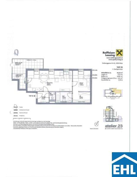 ERSTBEZUG: Top 2 Zimmer Dachgeschoßwohnung mit Balkon im Herzen Margaretens mit verpflichtender Parkplatzanmietung /  / 1050Wien / Bild 9