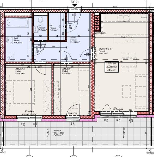 Top 24 - Drei-Zimmer-Wohnung mit großem Balkon. Zum Sonne tanken /  / 2700Wiener Neustadt / Bild 9