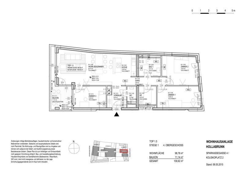 FREUNDLICHE FAMILIENWOHNUNG IN ZENTRALER RUHELAGE MIT ABENDSONNE AM BALKON /  / 2020Gemeinde Hollabrunn / Bild 7