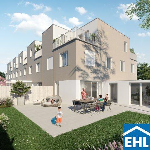 Familiäres Wohnen: Reihenhaus mit 4 Zimmern, Terrasse, Gartenanteil und Dachterrasse
