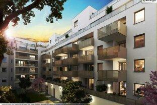 Besonders attraktive 2-Zimmer-Wohnung mit Loggia in ansprechendem, architektonisch durchdachtem Wohnhaus / Attractive 2-room apartment with loggia