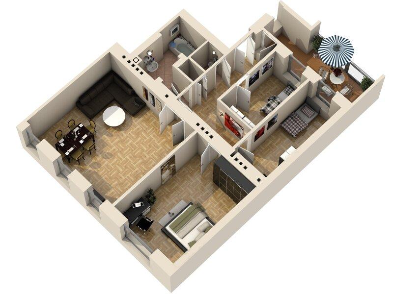 ERSTBEZUG - 4 Zimmer ALTBAU top saniert - 1030 Wien - 3. OG Top 17 ------ U Bahn Nähe - LOGGIA  - Schlafzimmer Hofseitig /  / 1030Wien / Bild 13