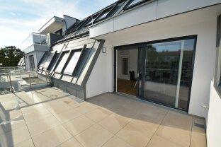 Strebersdorf: 3-Zimmer-Dachgeschoßwohnung mit Südterrasse inkl. Küche (Provisionsfreier Erstbezug)