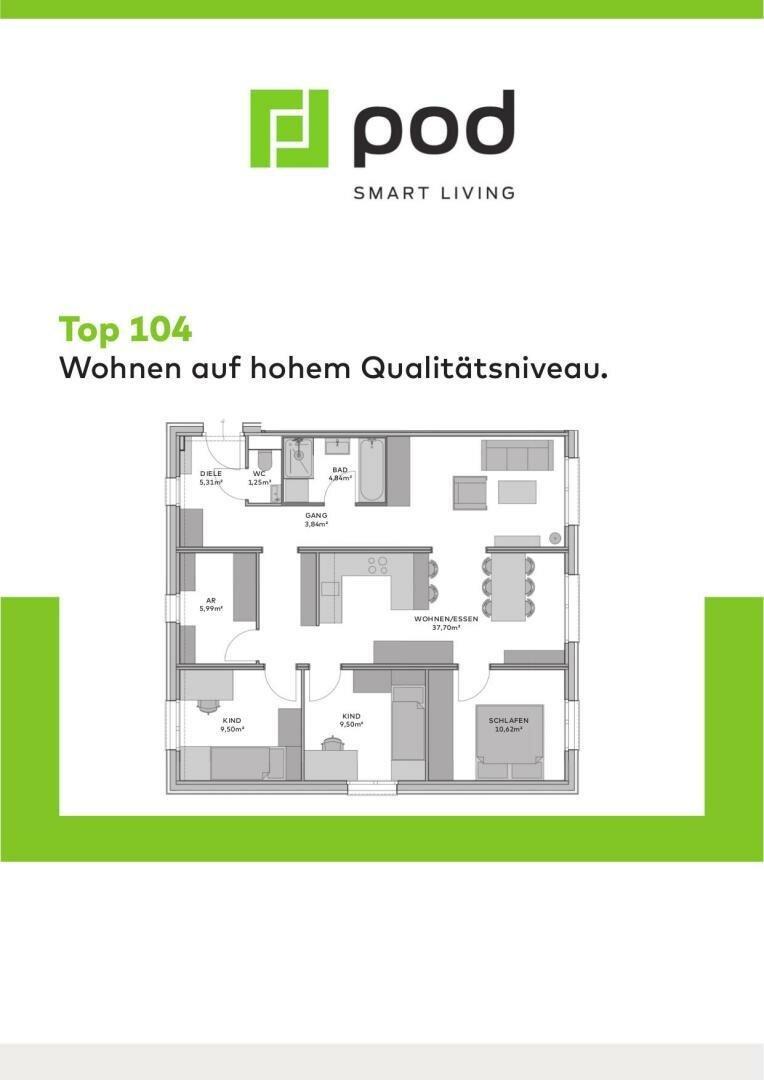 Wohnungsplan Top 104