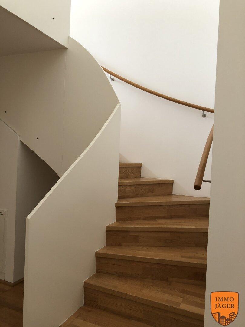 Stiegenaufgang in der Wohnung