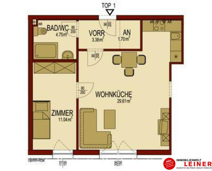 Himberg - 2 Zimmer Mietwohnung im Zentrum von Himberg - herrlich ruhig Objekt_9785 Bild_329
