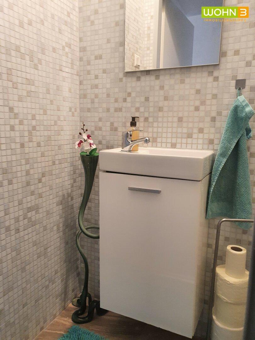 Waschbecken im WC