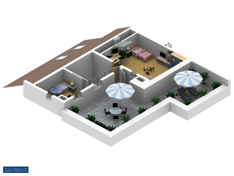 3D Ansicht 2 - 2. Ebene