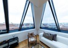 Wahrliches Unikat! 140 m² Wohnfläche + 30 m² Terrasse, Panoramablick Dachgeschoß, 4 Zimmer, Erstbezugswohnung, im 7. Bezirk, Kaiserstraße ecke Burggasse!