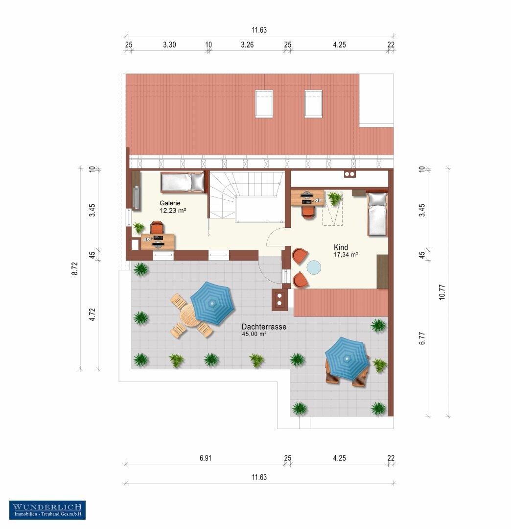 Wohnungsplan - 2. Ebene