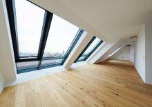 Exclusive Dach-Traumwohnung Wohnfläche 117 m² + 25,84 m² Terrasse, Panoramablick! Dachgeschoß, 4 Zimmer, Erstbezugswohnung, im 7. Bezirk, Kaiserstraße ecke Burggasse!