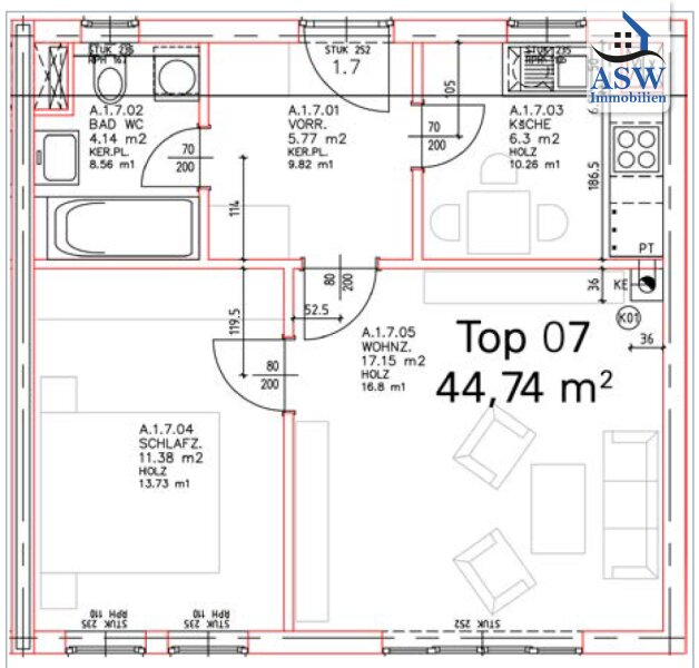 2-Zimmerwohnung beim Naherholungsgebiet Pleschingersee mit neuer Küche - sofort verfügbar /  / 4040Linz / Bild 10