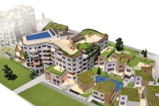 Wunderschöne Stadtvilla mit 4 Zimmern, Dachgarten und Garten mit Zugang zum Biotop