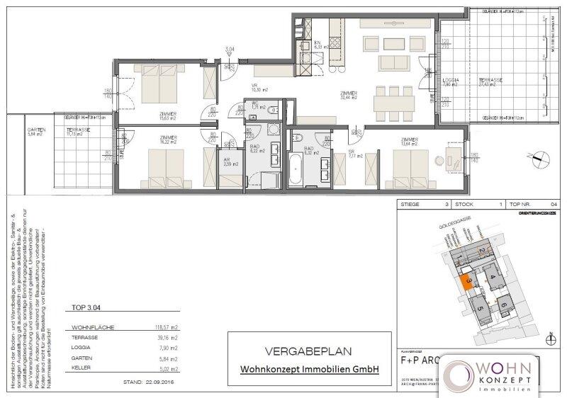 Goldegg Gardens: 126m² Erstbezug + 39m² Terrassen - 1040 Wien /  / 1040Wien / Bild 7