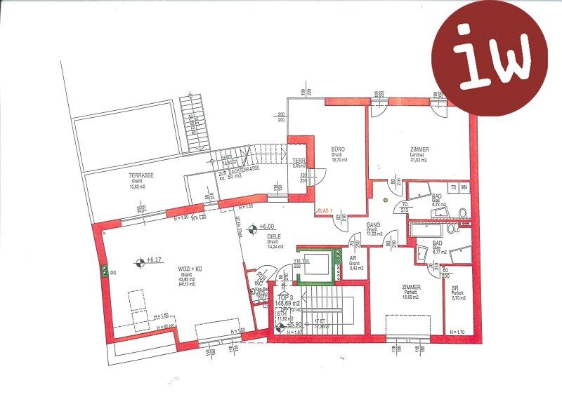 Zentrumslage-Stiftsblick, große Dachterrasse Objekt_661 Bild_100