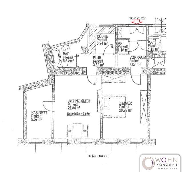 Schöner 76m² Altbau mit Einbauküche Nähe Friedensbrücke - 1200 Wien /  / 1200Wien / Bild 0