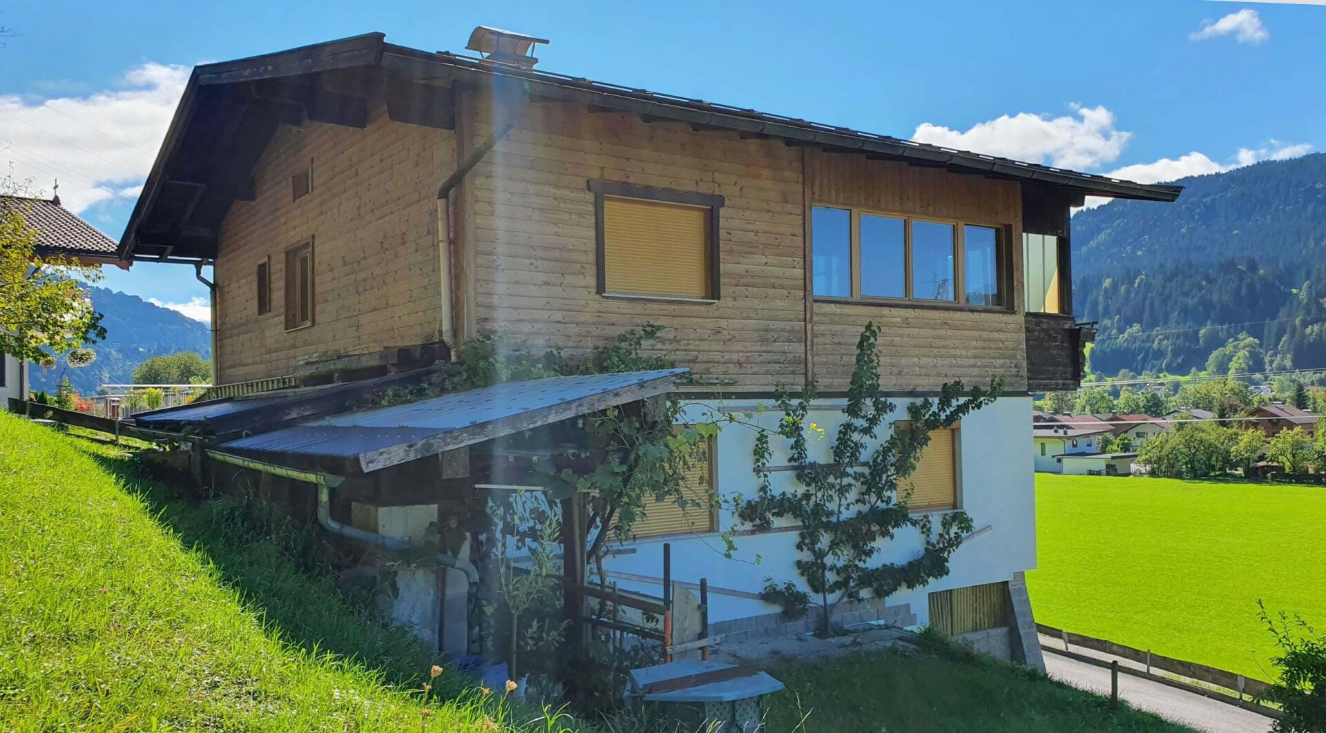 Einfamilienhaus Kirchbichl, Ansicht von Westen