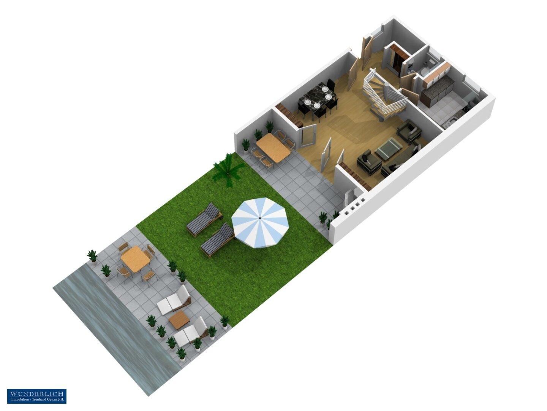 3D-Visualisierung Erdgeschoß