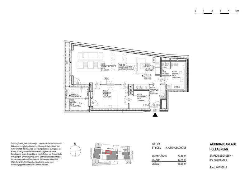 GROßZÜGIGES 2 ZIMMER APARTMENT MIT SCHRANKRAUM UND SONNIGEM BALKON MIT WEITBLCIK /  / 2020Gemeinde Hollabrunn / Bild 4