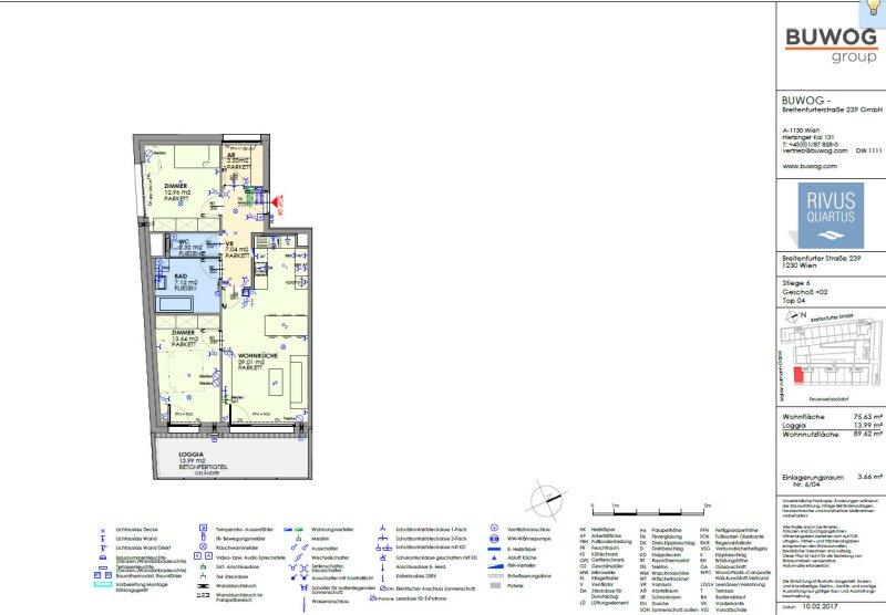 ERSTBEZUG & UNBEFRISTET: Schöne 3-Zimmer-Wohnung im 2. Stock mit Loggia und Gemeinschafts-POOL am Dach - PROVISIONSFREI /  / 1230Wien / Bild 6