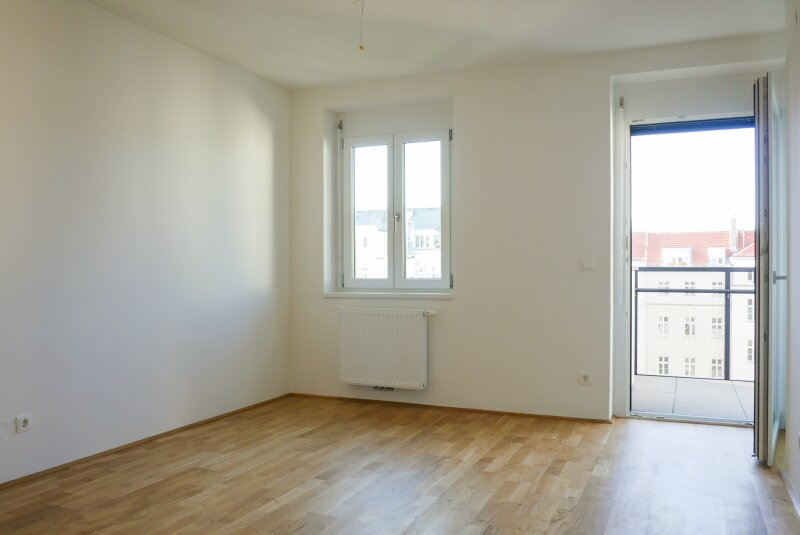 Wohnküche mit Balkon hofseitig