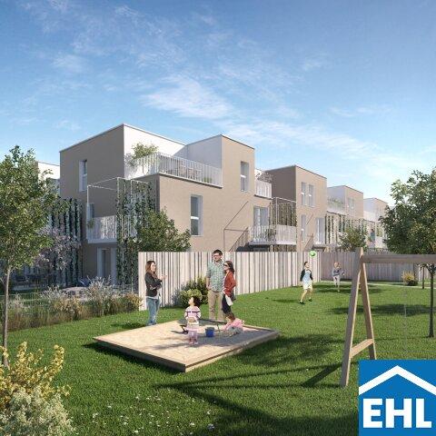 Familiäres Wohnen: 4-Zimmer DG-Wohnung ohne Dachschrägen mit Dachterrasse