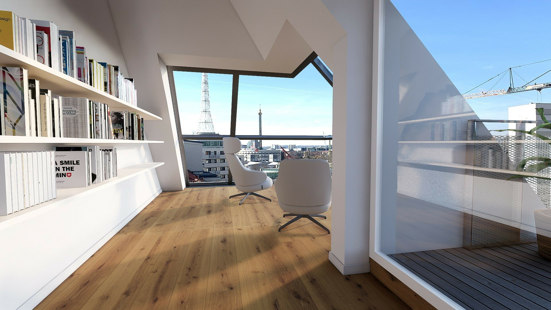 bitte Inseratstext beachten! | Ein Ausblick, der begeistert! | Einzigartige DG-Wohnungen mit großzügigen Außenflächen und außergewöhnlicher Raumhöhe (Projektansicht)