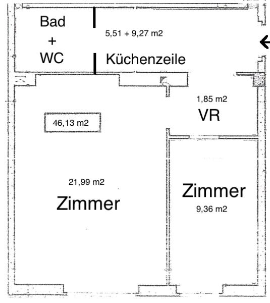 AKH-Nähe: bildhübsche 2-Zimmerwohnung, Ersbezug nach Sanierung, neue Küchenzeile, Hausgarten, WG-geeignet, Nähe U6 und AKH! /  / 1180Wien / Bild 6
