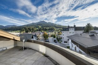 Terrassenwohnung mit Aussicht auf das Kitzbühler Horn